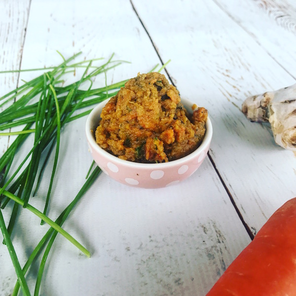 carrot, ginger and chive dip