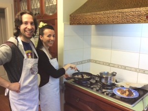 In-home cooking class